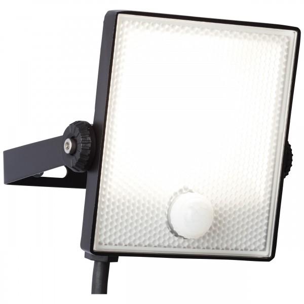 Brilliant G96330/06 Dryden Aussenwandstrahler schwarz 13cm mit Bewegungsmelder Metall/Kunststoff LED Lampen
