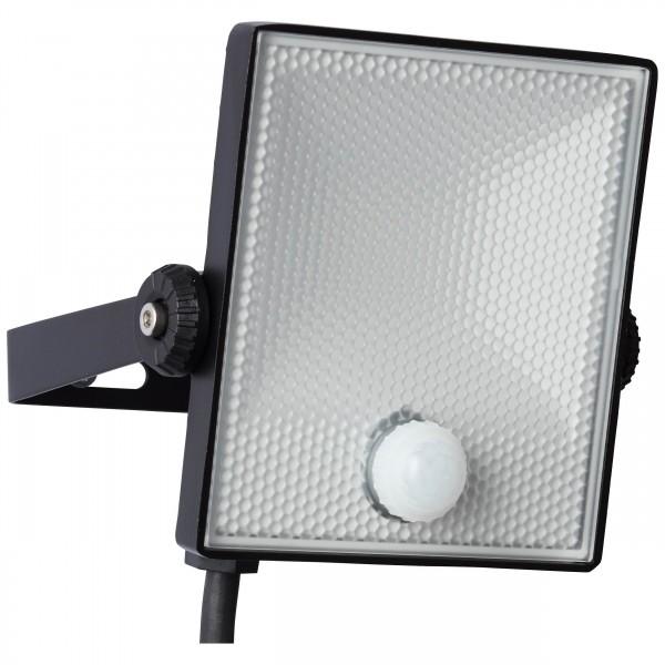 Brilliant G96330/06 Dryden Aussenwandstrahler schwarz 13cm mit Bewegungsmelder Metall/Kunststoff schoene lampenwelt