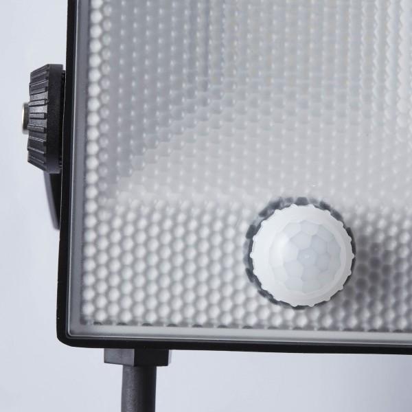 Brilliant G96330/06 Dryden Aussenwandstrahler schwarz 13cm mit Bewegungsmelder Metall/Kunststoff Leuchten