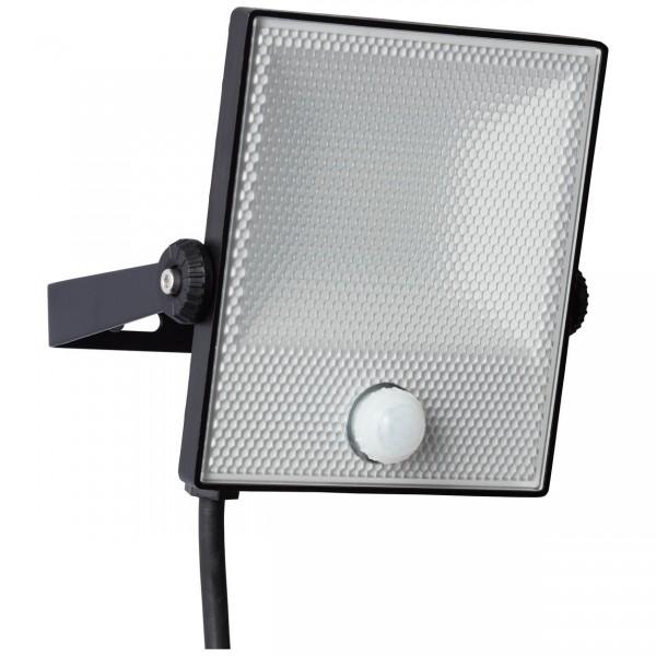 Brilliant G96331/06 Dryden Aussenwandstrahler schwarz 16cm mit Bewegungsmelder Metall/Kunststoff schoene lampenwelt