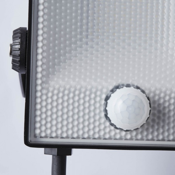 Brilliant G96331/06 Dryden Aussenwandstrahler schwarz 16cm mit Bewegungsmelder Metall/Kunststoff Beleuchtung