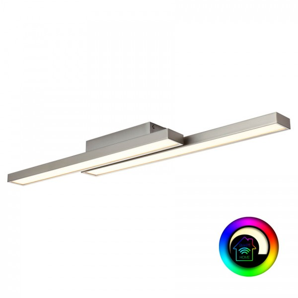 Brilliant G96814/68 Sword WiZ Deckenleuchte, 2-flammig Metall/Kunststoff LED Lampen