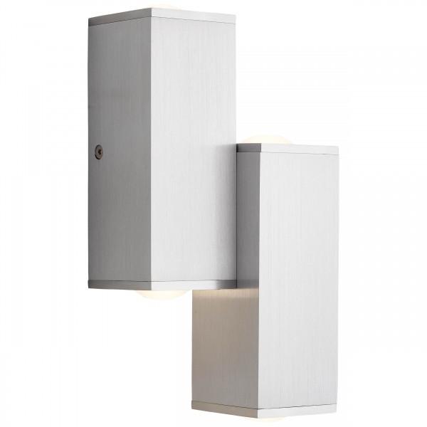 Brilliant G96888/21 Cubic Wandleuchte, 4-flammig Aluminium/Kunststoff LED Lampen