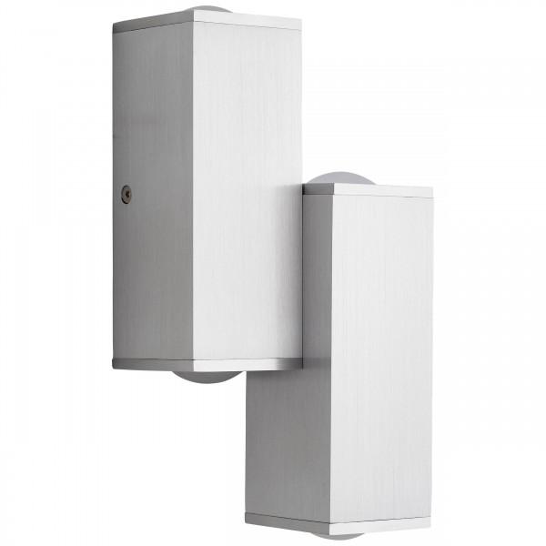 Brilliant G96888/21 Cubic Wandleuchte, 4-flammig Aluminium/Kunststoff schoene lampenwelt