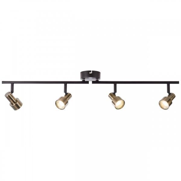 Brilliant G96923/12 Croyden Spotrohr, 4-flammig, drehbar Metall/Kunststoff LED Lampen