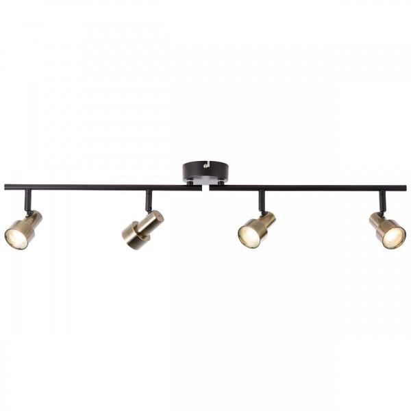 Brilliant G96923/12 Croyden Spotrohr, 4-flammig, drehbar Metall/Kunststoff schoene lampenwelt
