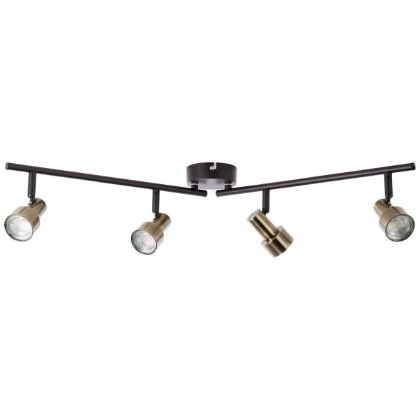 Brilliant G96923/12 Croyden Spotrohr, 4-flammig, drehbar Metall/Kunststoff Leuchten