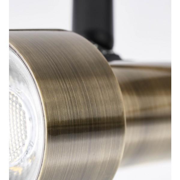Brilliant G96923/12 Croyden Spotrohr, 4-flammig, drehbar Metall/Kunststoff Beleuchtung