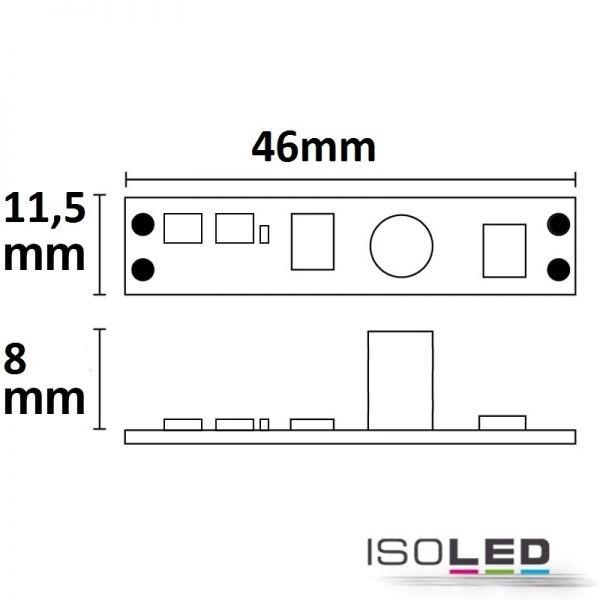 Skizze LED Mini-Dimmer mit Wisch-Sensor
