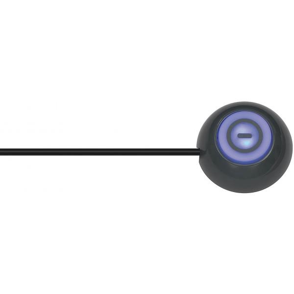 Brennenstuhl Eco-Line Steckdosenleiste 6-fach mit Hand-/Fu??schalter - Beleuchteter Fu??schalter mit 1,5 m flexibler Steuerleitung