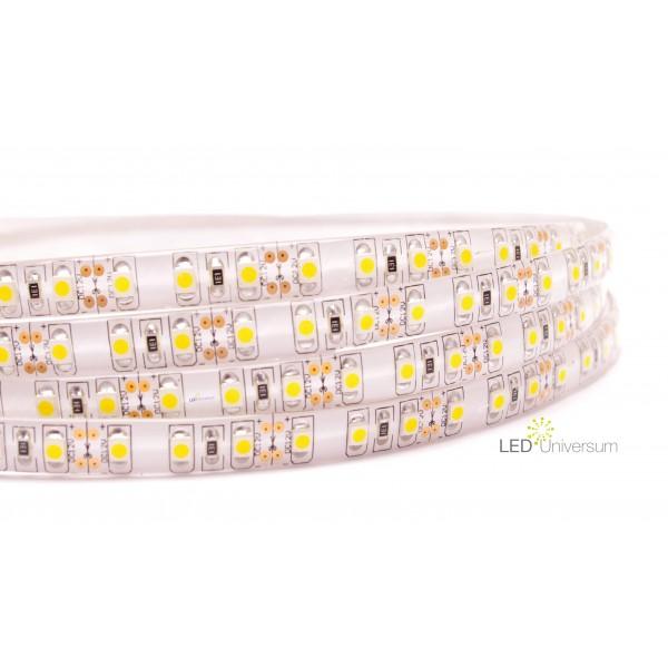 Sehr Heller Professioneller Kaltweißer LED Streifen (120 LED/m, IP65, 24V) - DC Hohlbuchse 5,5 | 2,1mm – Länge selbst konfigurieren (1 - 14 Meter)