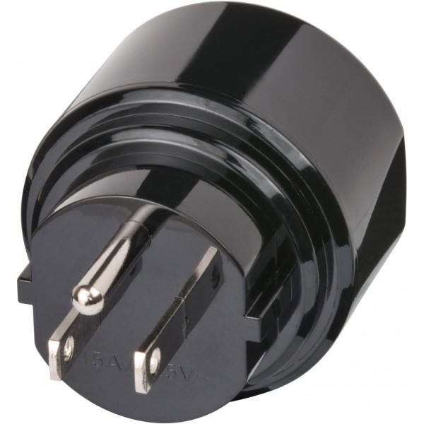 Brennenstuhl Stecker des Adapters zum Aufstecken in eine Steckdose in L??ndern, wie USA, Kanada, der Dominikanischen Republik, Mexiko bzw. Japan