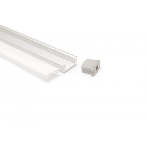 Aluminium Profil U RGB,ww, kw, nw, cw, LED, Streifen, Blende, Matt