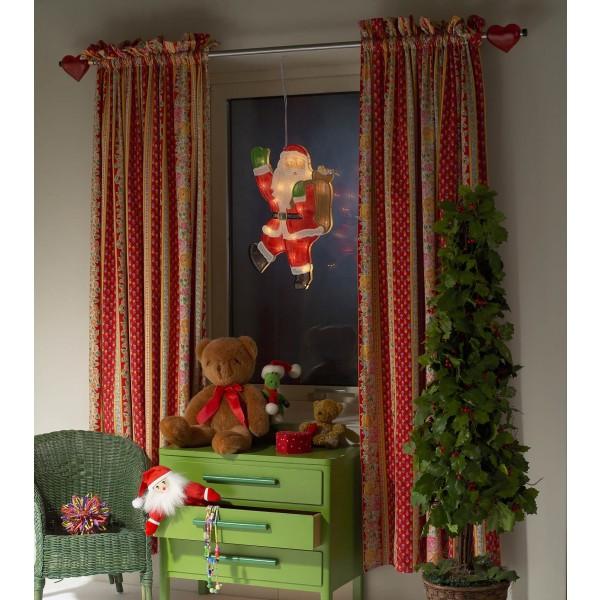 Konstsmide 2850-010 LED Fensterbild Weihnachtsmann - Anwendungsbeispiel