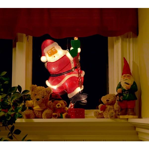 Konstsmide 2856-010 LED Fensterbild kletternder Weihnachtsmann – Anwendungsbeispiel