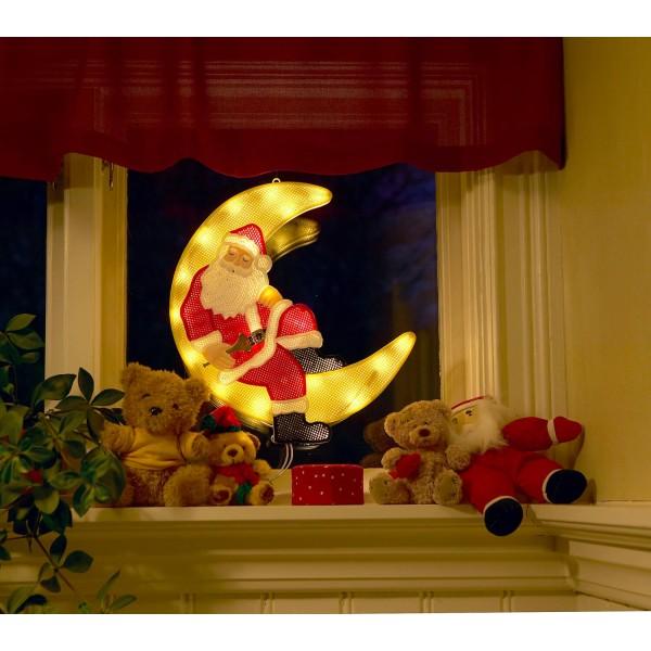 Konstsmide 2860-010 LED Fensterbild Weihnachtsmann im Mond ??? Anwendungsbeispiel