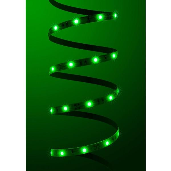 Classic 12V LED Streifen Set grün 30 LED/m - angeschaltet