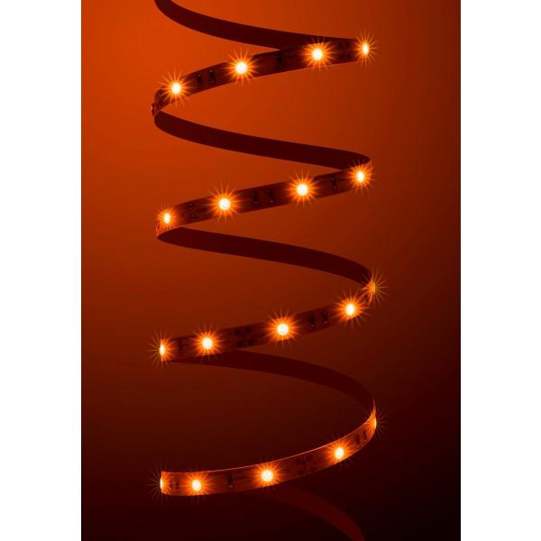 Classic 12V LED Streifen orange 30 LED/m - angeschaltet