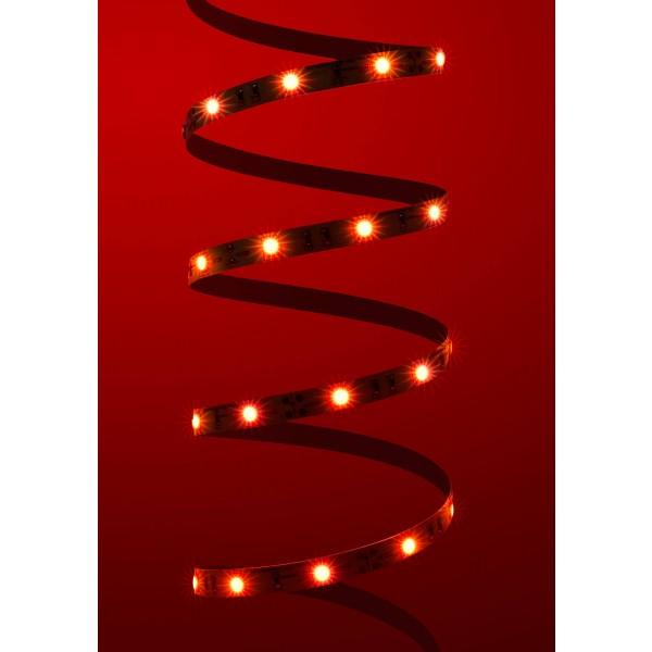 Classic 12V LED Streifen Set rot 30 LED/m - angeschaltet