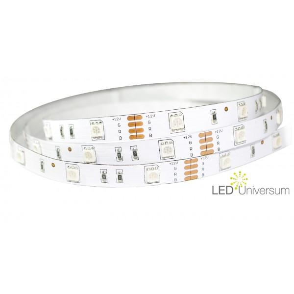 LED Treppenbeleuchtung für den Innenbereich - RGB -  für 1 bis 18 Treppenstufen je 1 Meter + 0,5m Anschluss