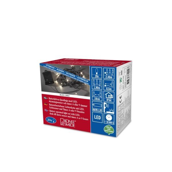 LED Lichterkette batterie 4x 1,5V 20 Dioden ww Konstsmide bei LED Universum