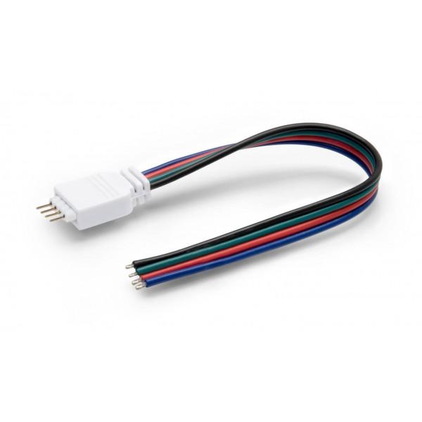 4 Pol Stecker/Buchse mit Kabellitze f??r RGB LED Streifen (mitSteckverbinder)