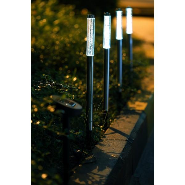 Beispielfoto der LED Solarst??be am Wegesrand
