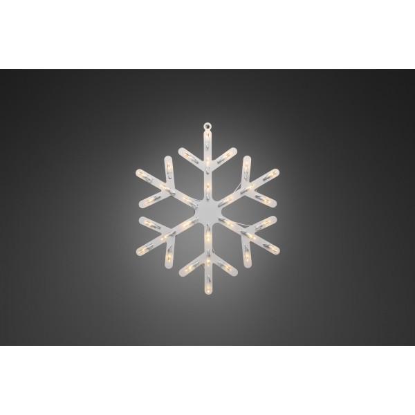 Konstsmide 4581-000 LED Fensterbild Schneeflocke