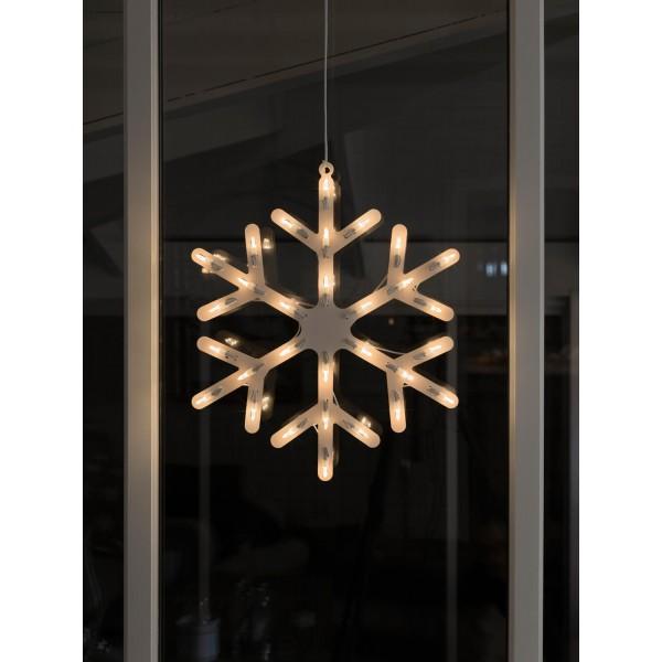 Konstsmide 4581-000 LED Fensterbild Schneeflocke – Anwendungsbeispiel