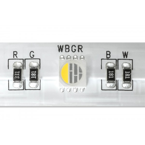 4 in 1 RGB WW LED Streifen Platine - Detailbild