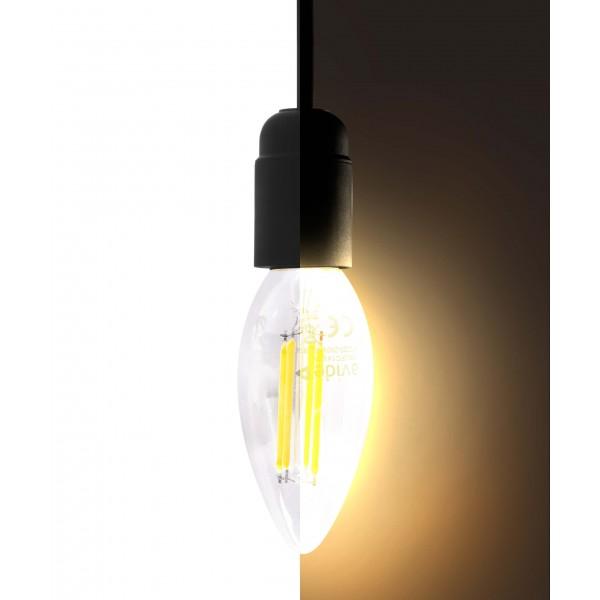 4W LED Filament Kerze - warmweiß - E14