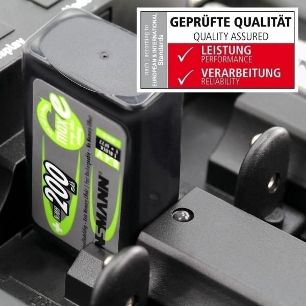 ANSMANN NiMH Akku Batterie LSD 9V E-Block Typ 200 maxE, 1er Blister - Anwendung