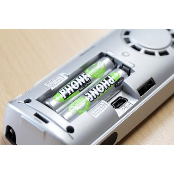 ANSMANN NiMH Akkus Micro AAA, HR03, 1,2V, 550mAh, maxE im 2er Blister  – speziell für DECT-Telefone konzipiert