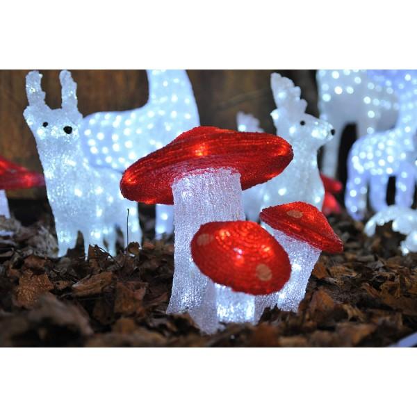 Konstsmide 6155-203 LED Acryl 3er Fliegenpilz