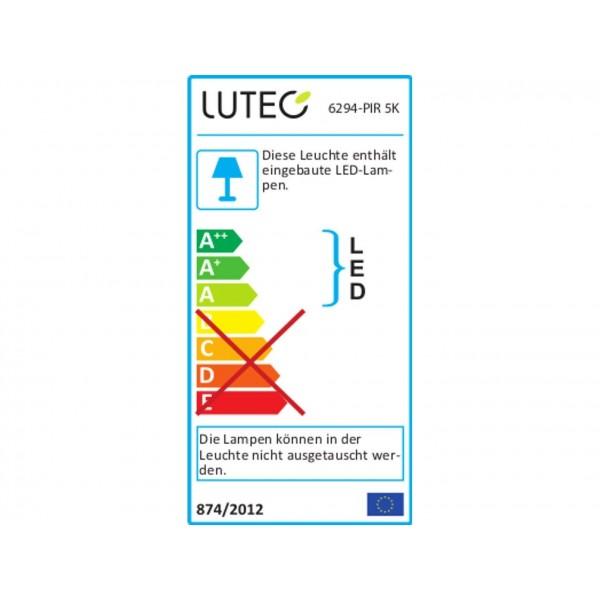 Lutec 6294-5K LED Au??enleuchte Peri - Energieeffizienz-Label