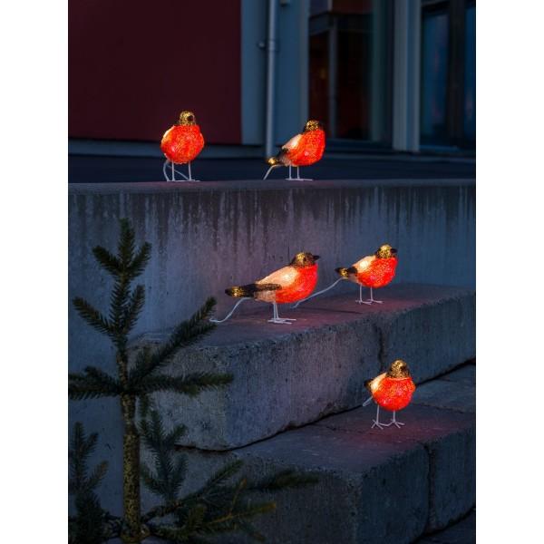 Konstsmide 6269-203 LED Acrylfigur Rotkehlchen 5er Set – Anwendungsbeispiel