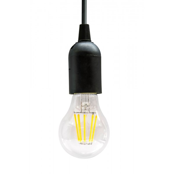 8W LED Filament Lampe E27 A60 mit Fassung