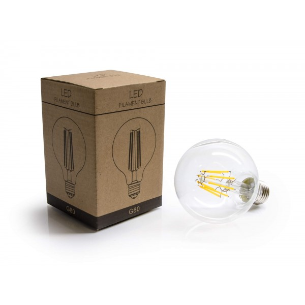 LED Birne Typ Filament LED 8W warmweiß mit Packung