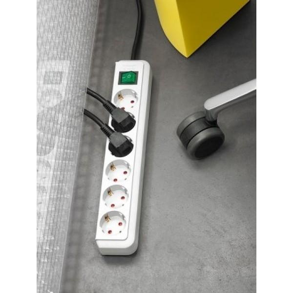 Brennenstuhl Eco-Line Steckdosenleiste mit Schalter 8-fach 3m Kabel schwarz