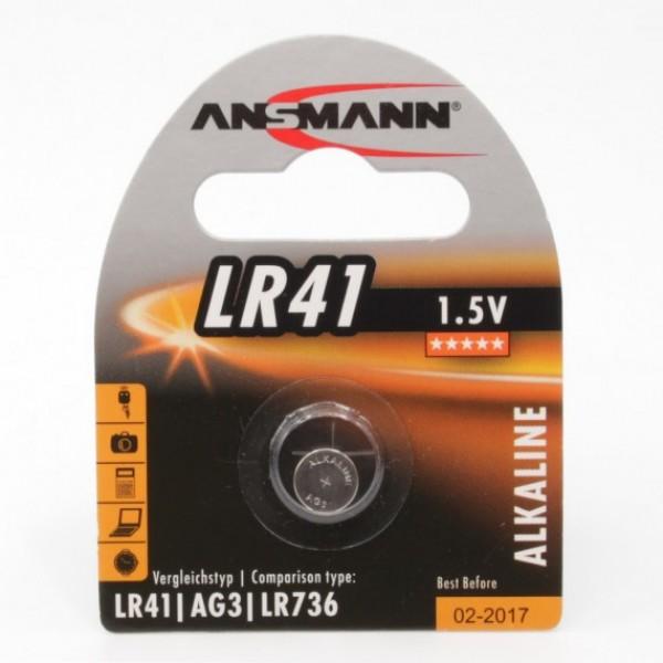 ANSMANN Alkaline Knopfzelle LR41 - Verpackung