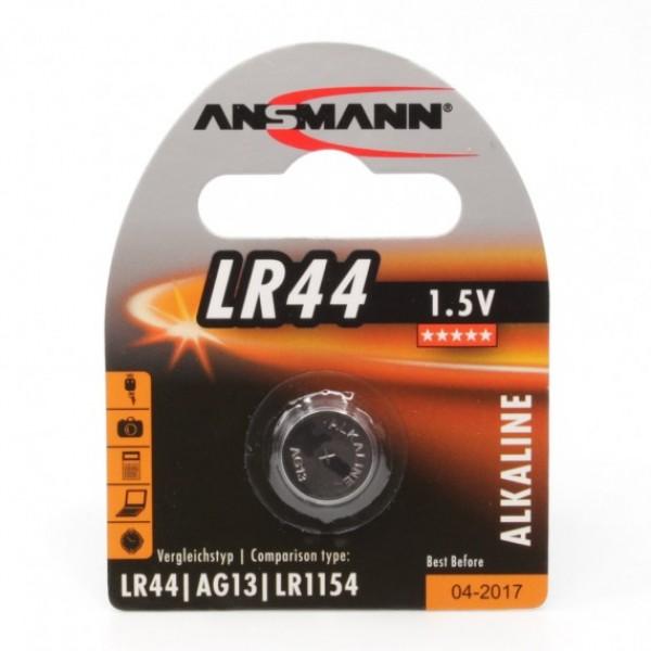 ANSMANN Alkaline Knopfzelle LR44 - Verpackung