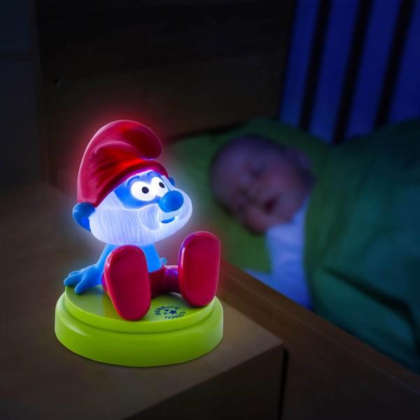 ANSMANN Mobiles LED Nachtlicht Papa Schlumpf - Anwendungsbeispiel - KInderzimmer