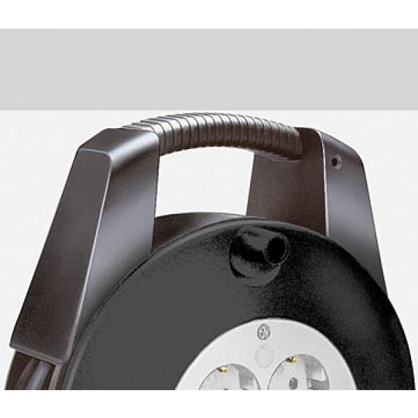 Brennenstuhl Vario Kabeltrommel 4 Schutzkontakt-Steckdosen 10m IP20 schwarz/lichtgrau - mit ergonomisch geformten Tragegriff