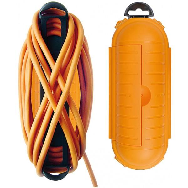 Brennenstuhl Safe-Box Schutzkapsel f??r Kabelverbindungen, IP44, extra gro?? - Kabelaufrollvorrichtung mit aufger??umtem Kabel