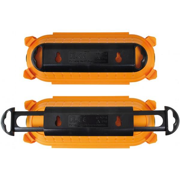 Brennenstuhl Safe-Box Schutzkapsel f??r Kabelverbindungen, IP44, extra gro?? - praktische Kabelaufrollvorrichtung