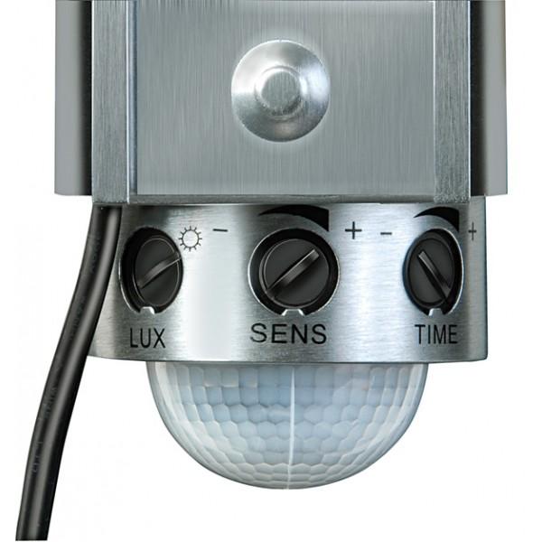 Brennenstuhl Drehknöpfen am Infrarot-Bewegungsmelder zum Einstellen von Ansprechschwelle Dämmerungssensor (LUX), Empfindlichkeit (SENS) und Leuchtdauer (TIME)