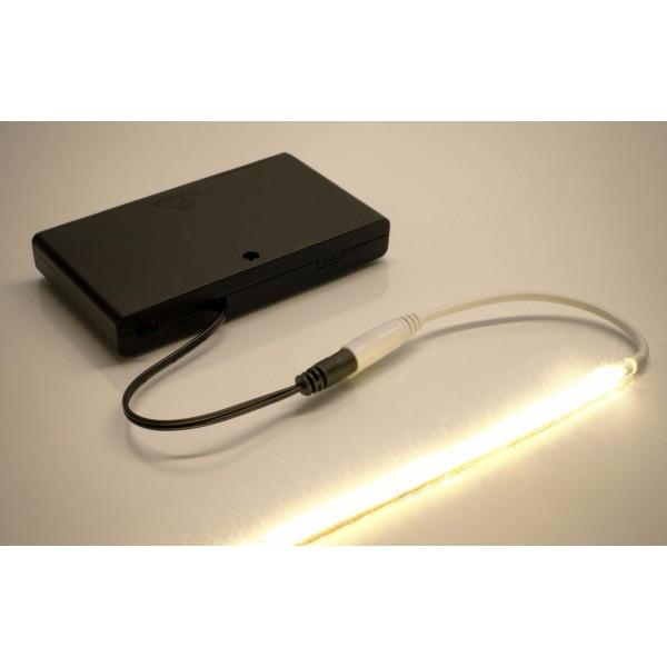 Batteriebox f??r mobile LED Anwendungen - Anwendungsbeispiel mit LED Leiste