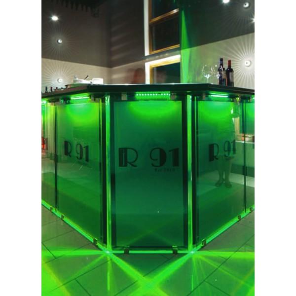 grüne Tresenbeleuchtung