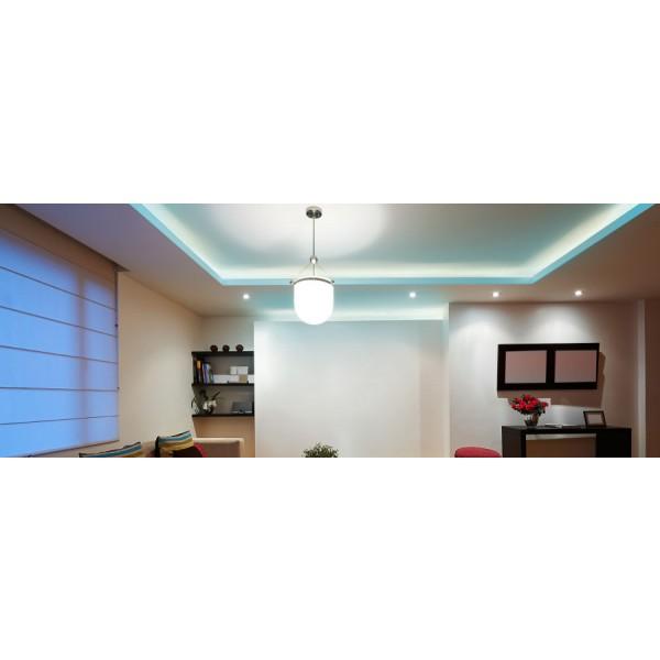Premium 24V RGB LED Streifen  - Anwendungsbeispiel - türkisblau