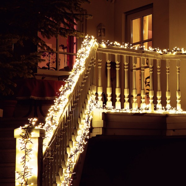 LED B??schellichterkette warmwei?? mit 480 LEDs - Dekorationsvorschlag